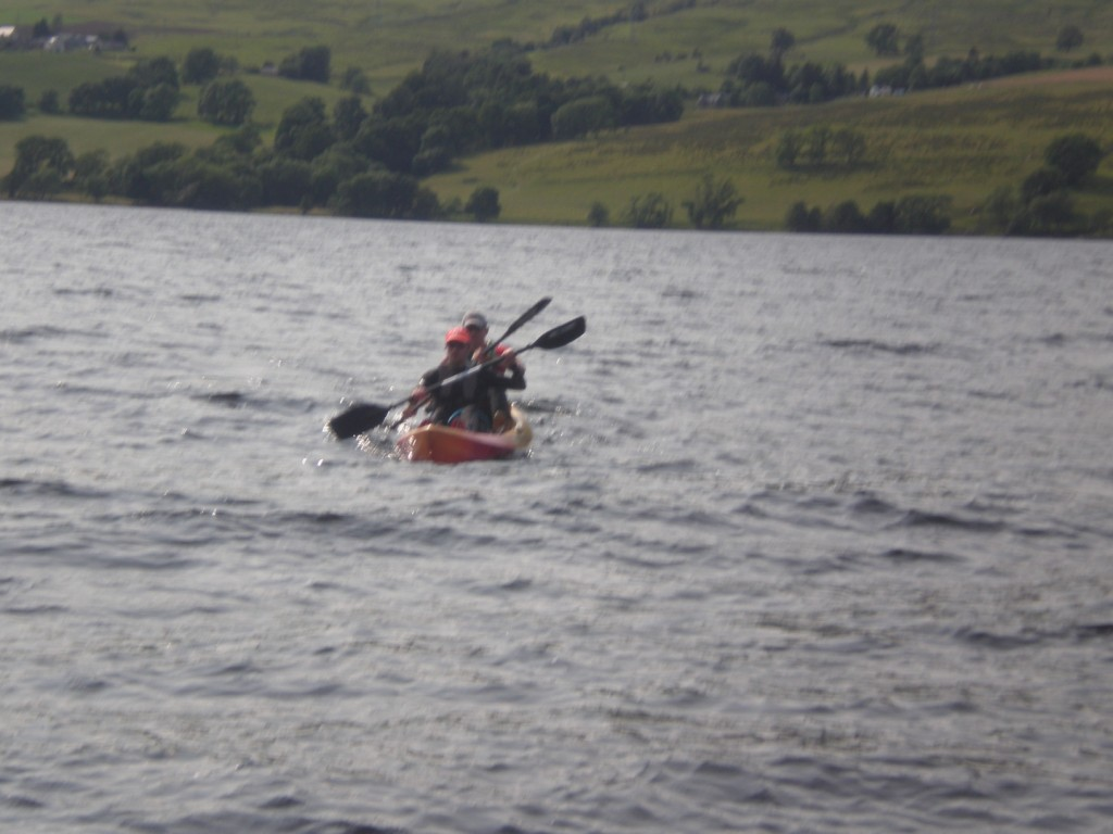 Graeme Pallister Kayaks in The kindrochit quadrathlon 2013