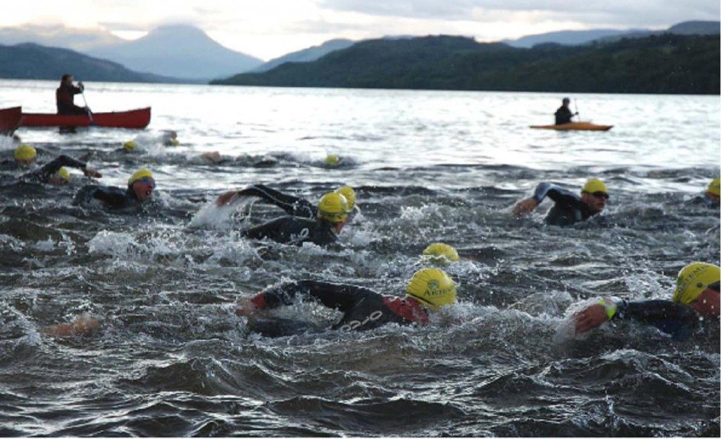 Graeme Pallister Swims in The kindrochit quadrathlon 2013