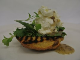 Graeme Pallister of 63 Tay Street makes Toasted tea cake with whipped goat's cheese & honey with truffle