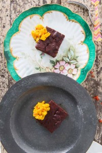 Beetroot brownies recipe from small city recipes in Perthshire